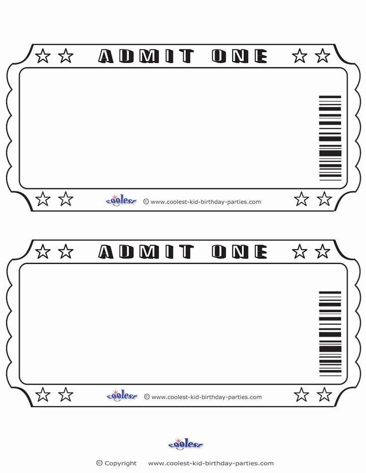 Event Ticket Template Printable