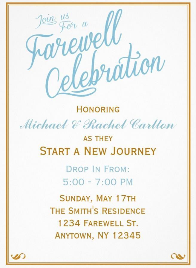 Farewell Party Flyer Template Free