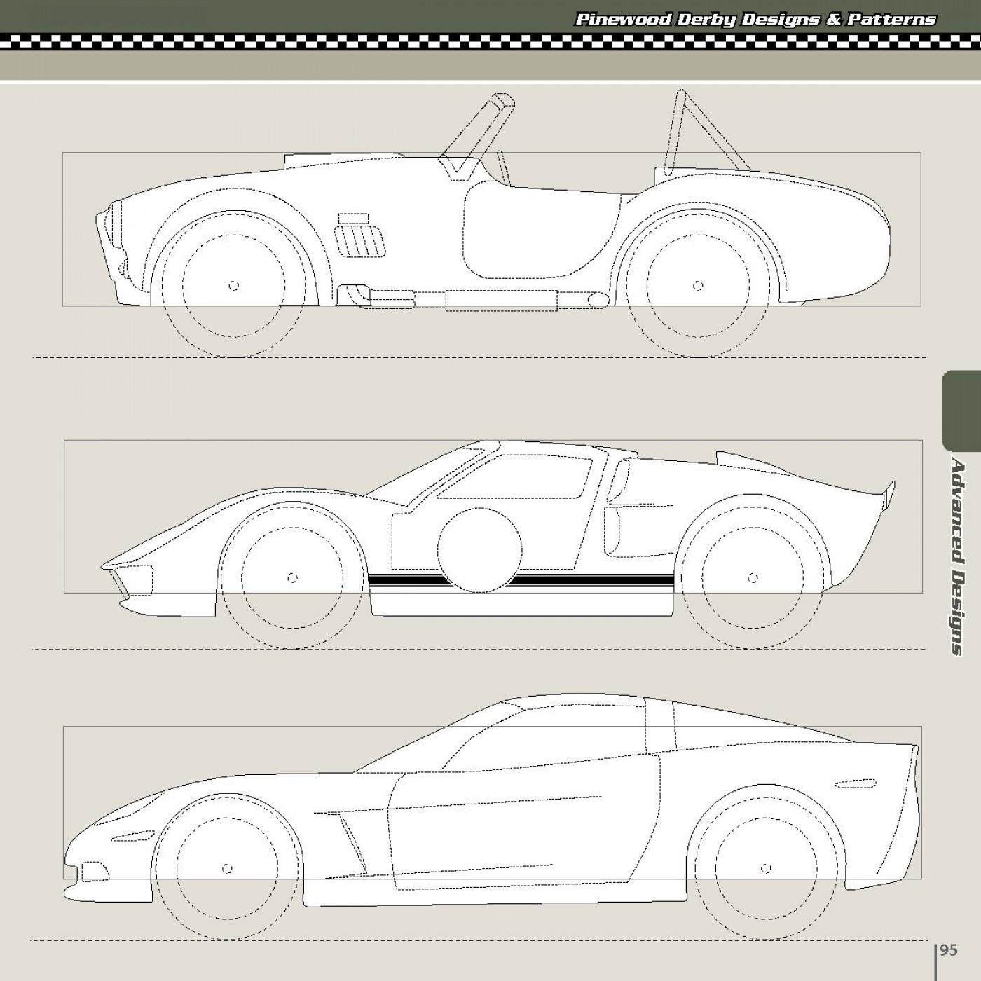 Flame Templates For Pinewood Derby Cars