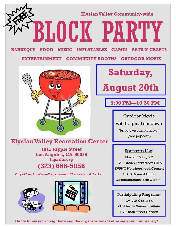 Free Block Party Flyer Template Word