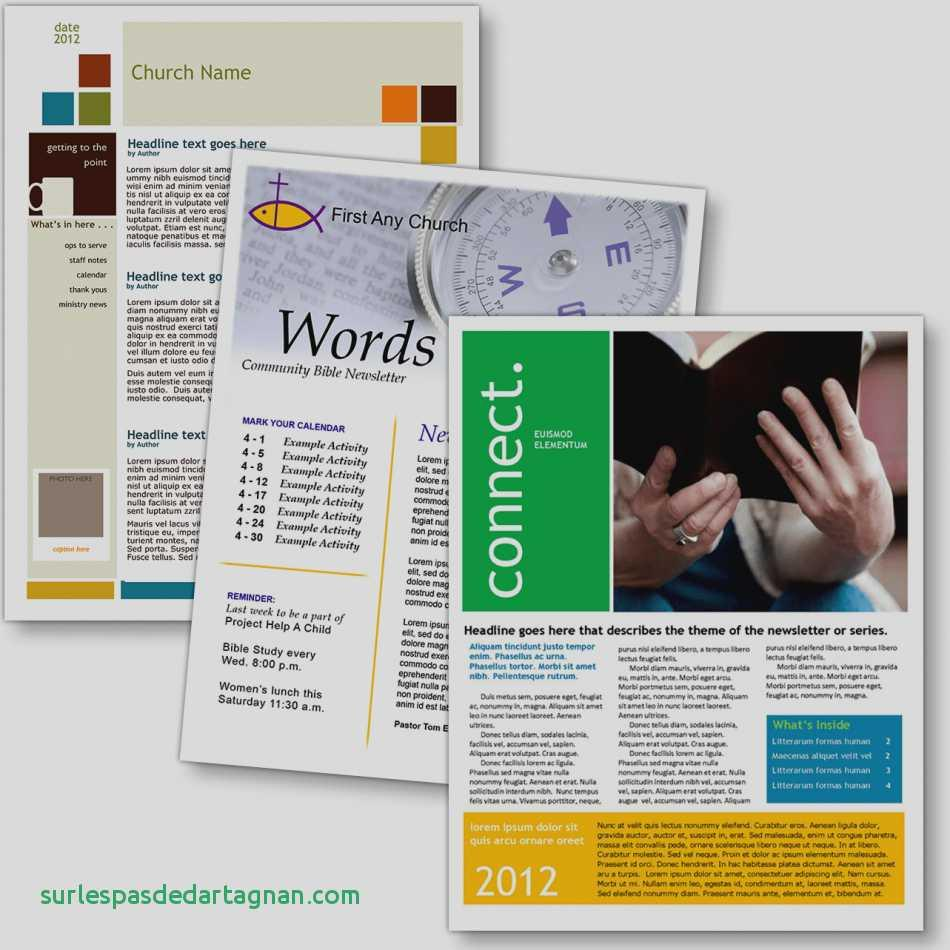 Free Church Newsletter Templates Publisher