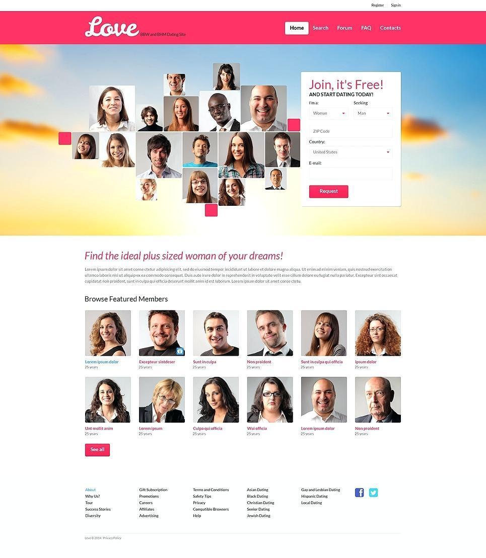 Free Dating Website Templates WordPress