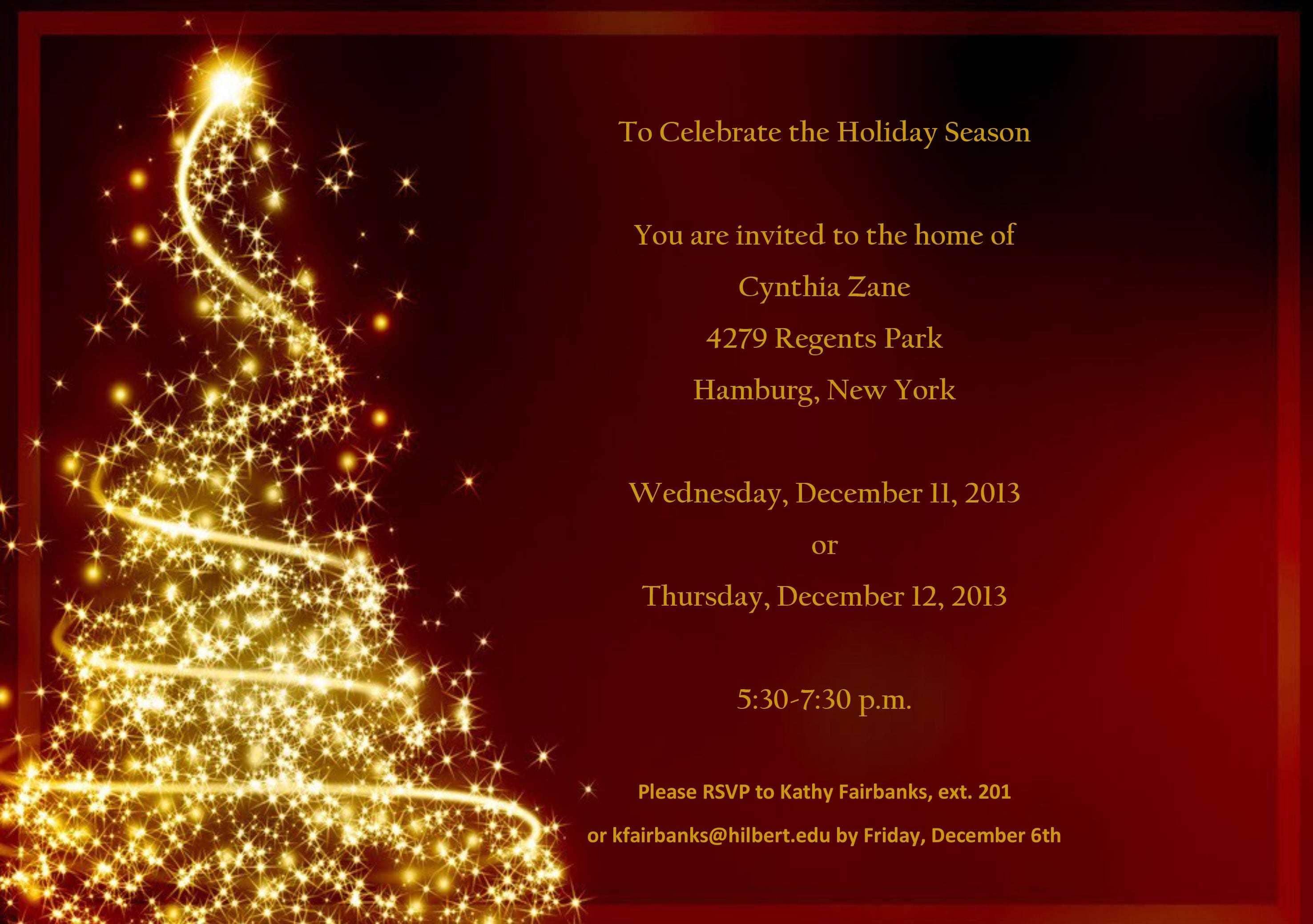 Free Holiday Party Email Invitation Template