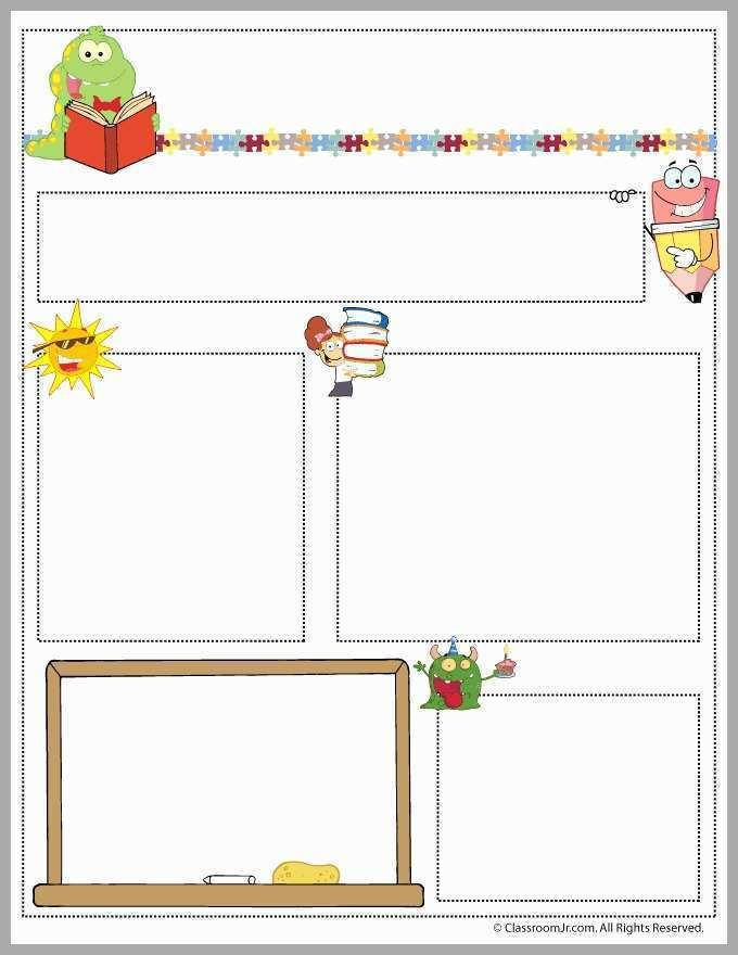Free Monthly Classroom Newsletter Templates
