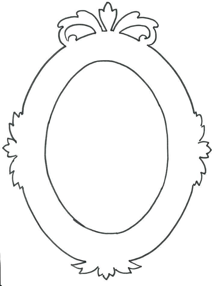 Free Oval Picture Frame Template