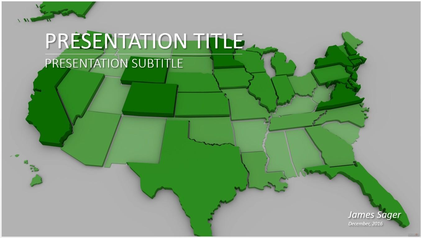 Free Powerpoint Us Map Templates