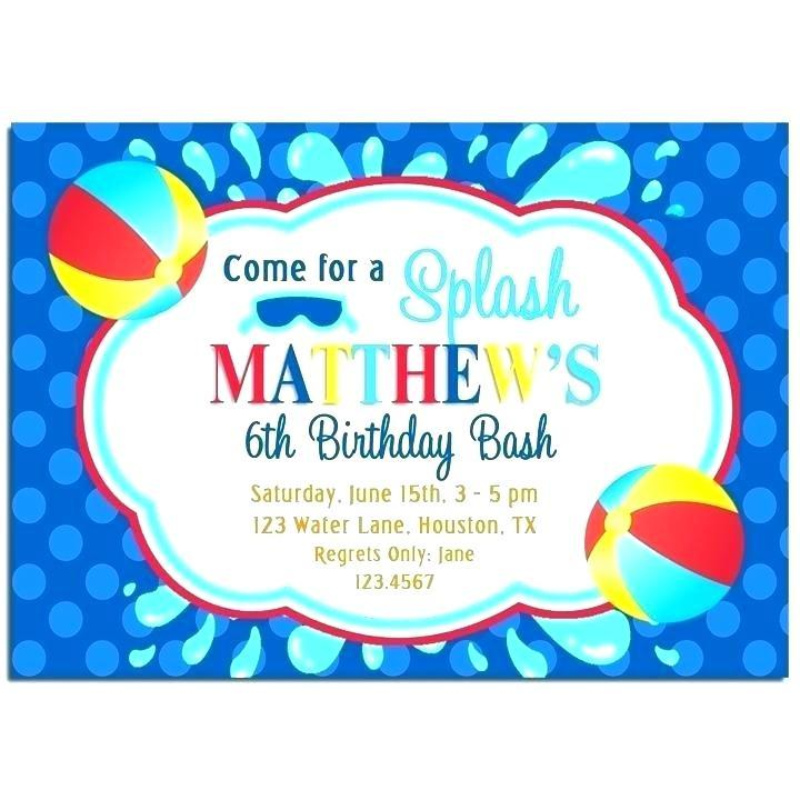 Free Printable Beach Party Invitation Templates