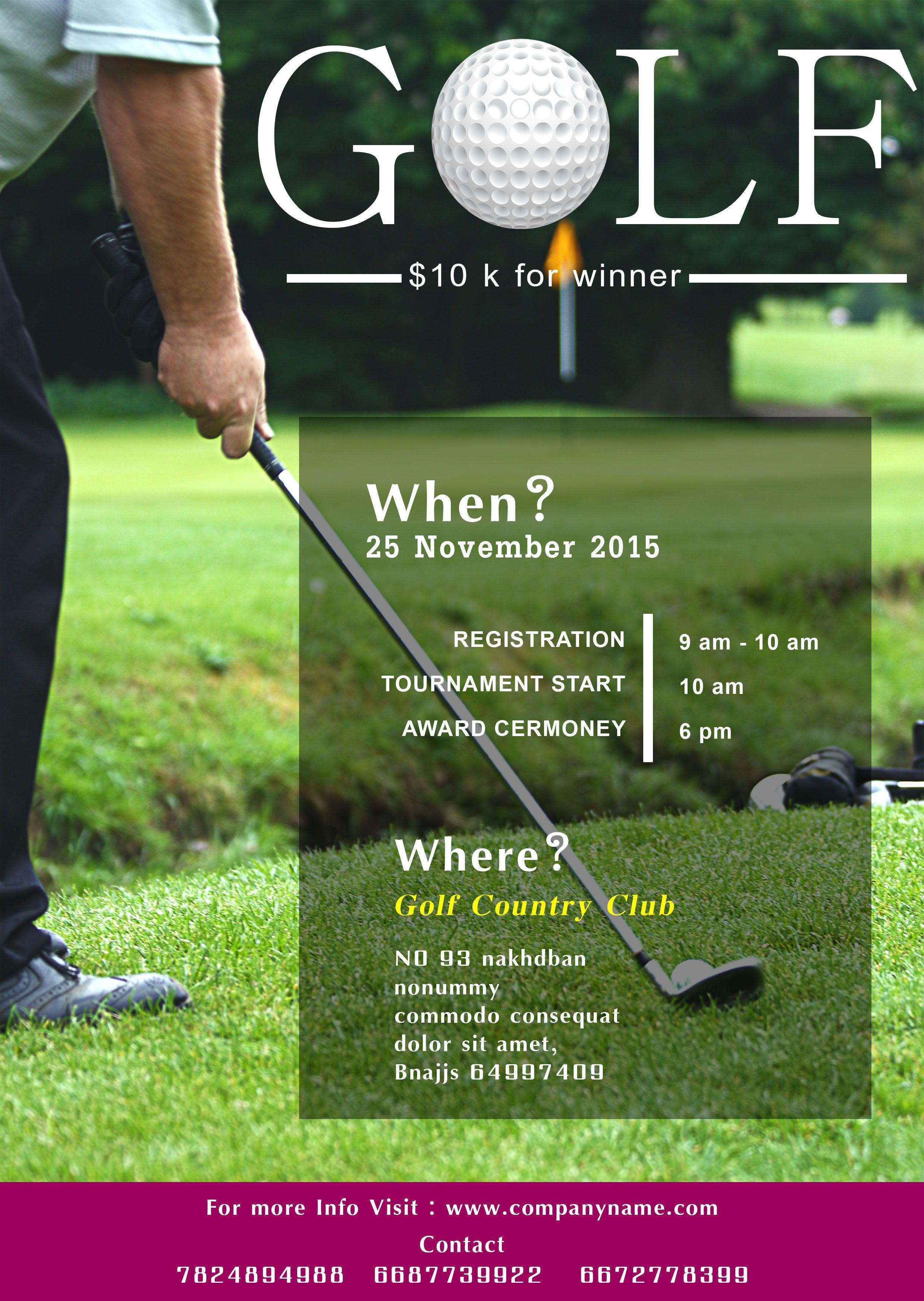 Golf Tournament Template Flyer