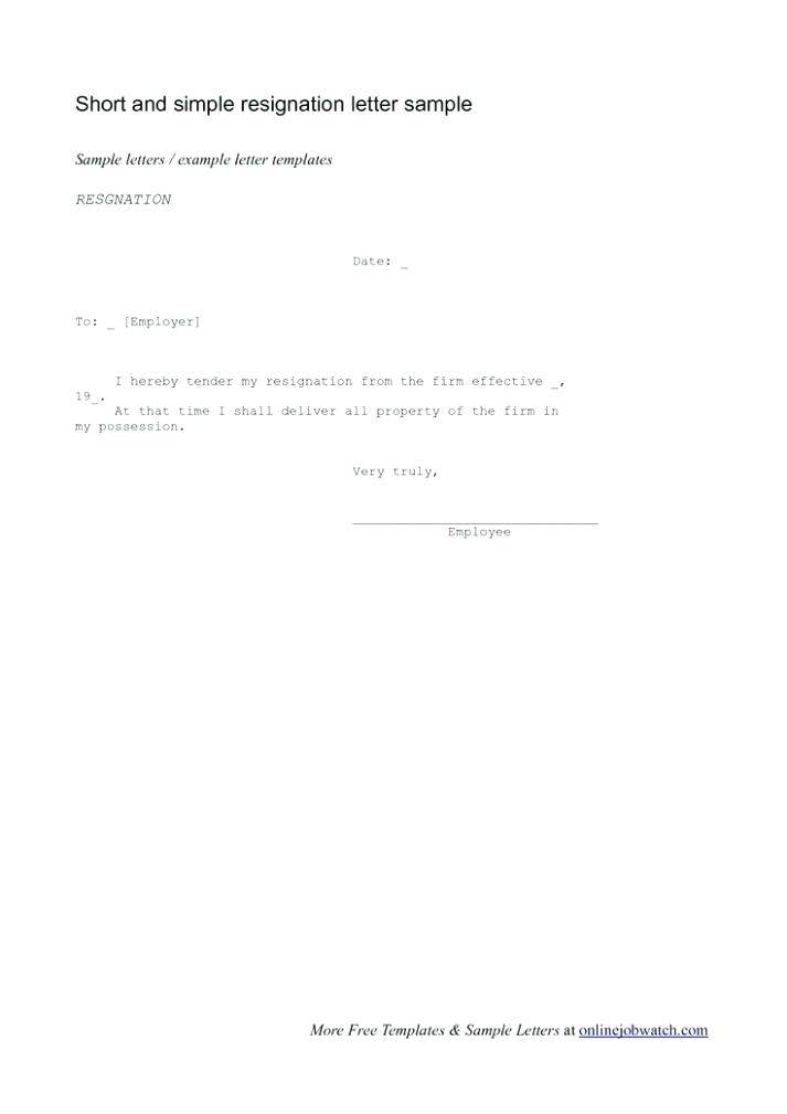 How To Write A Resignation Letter Nz Template