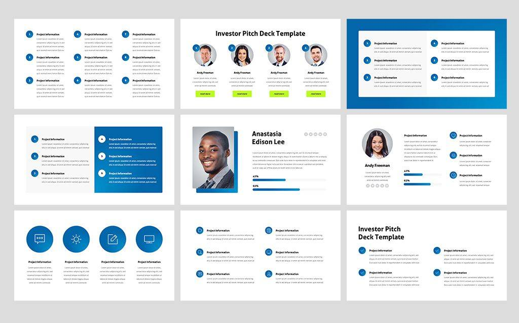 Investor Pitch Deck Template Powerpoint