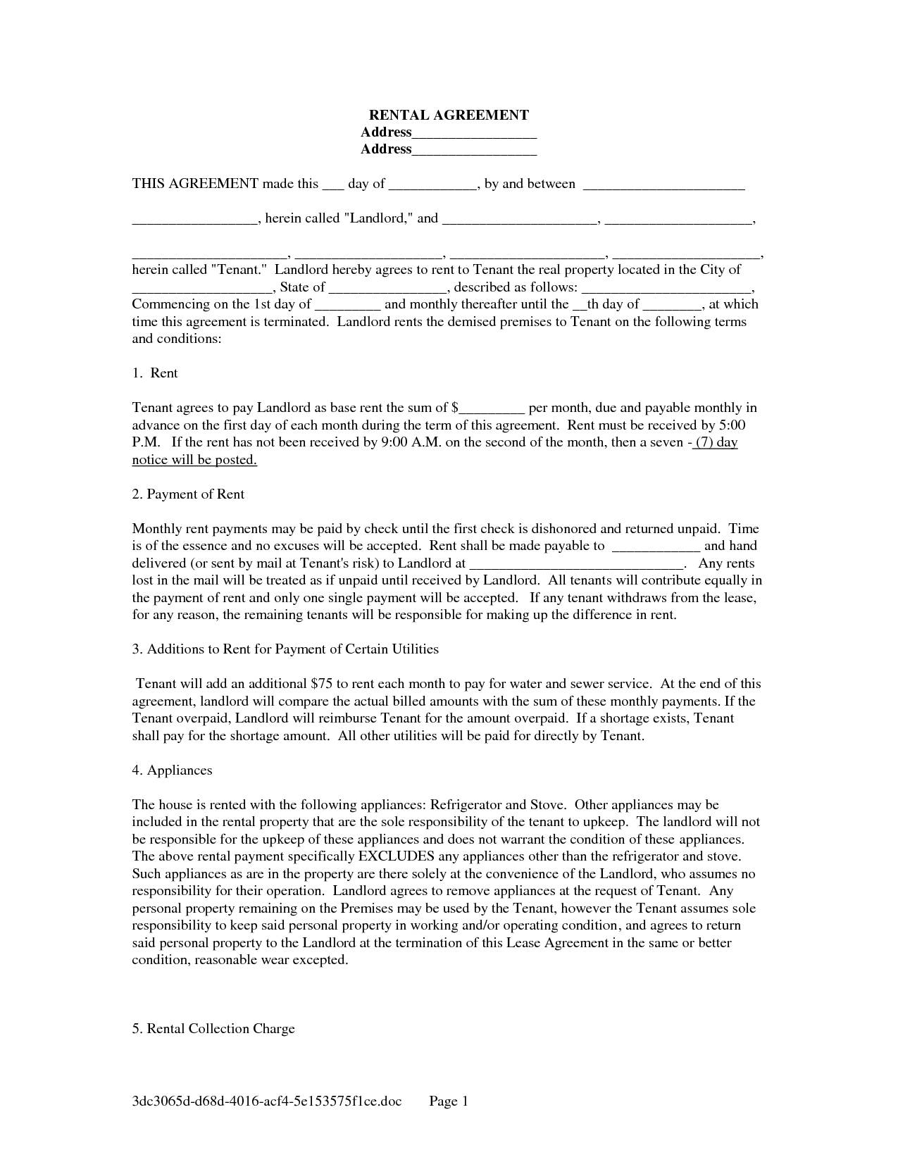 Land Rental Agreement Forms
