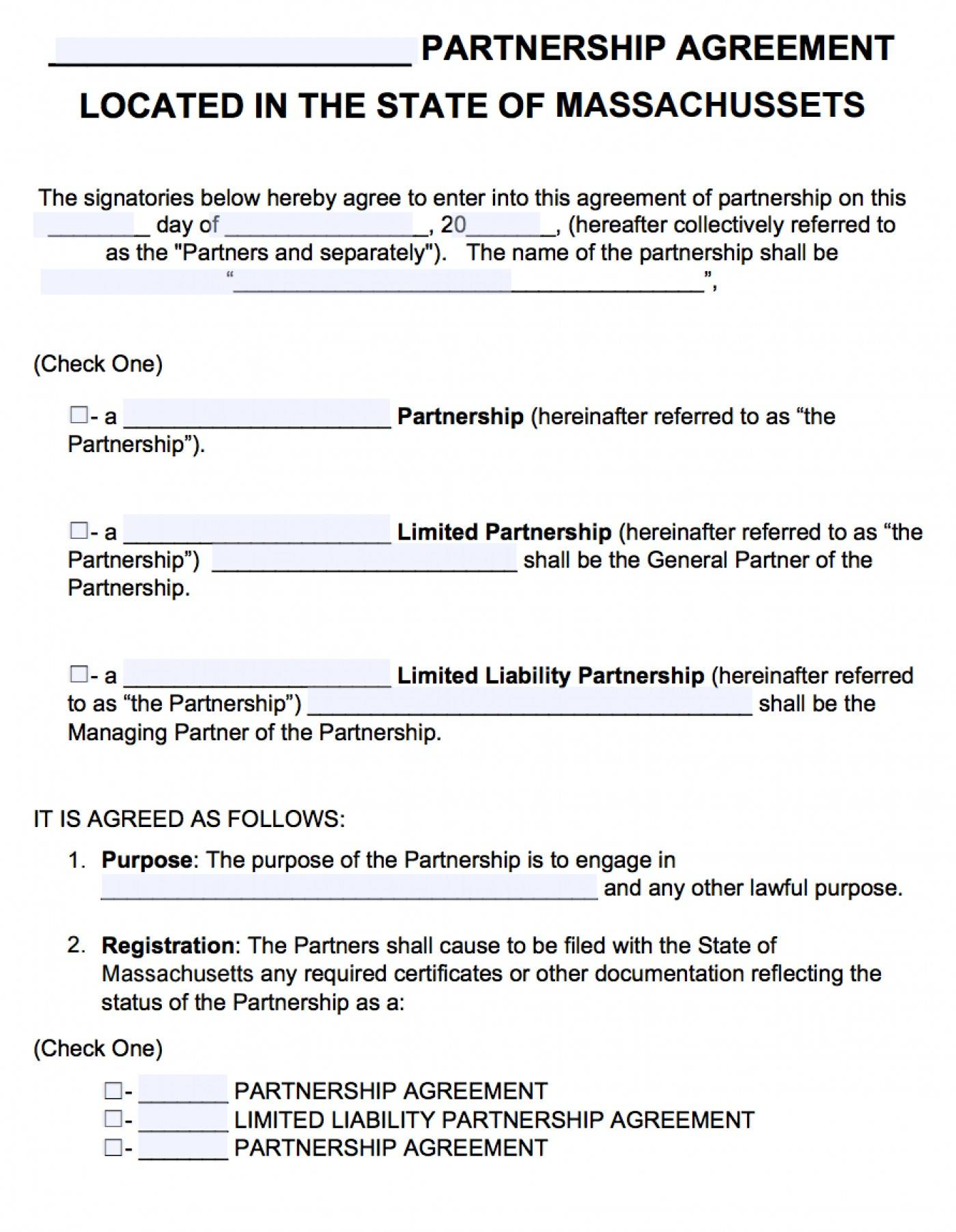 Limited Liability Partnership Agreement Template Ontario