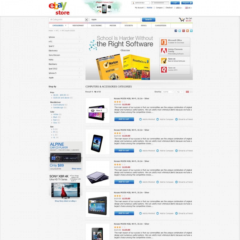 Magento Ebay Template