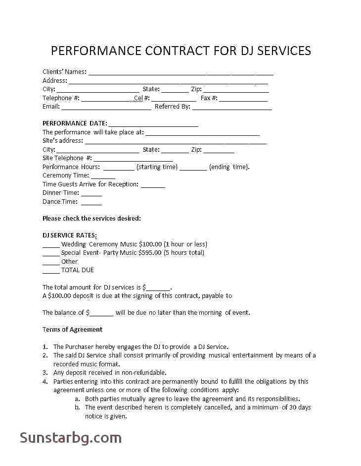 Model Booking Contract Template