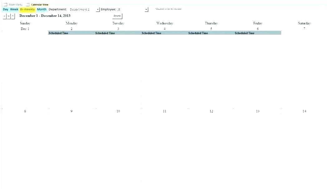 Monthly Schedule Excel Template 2017