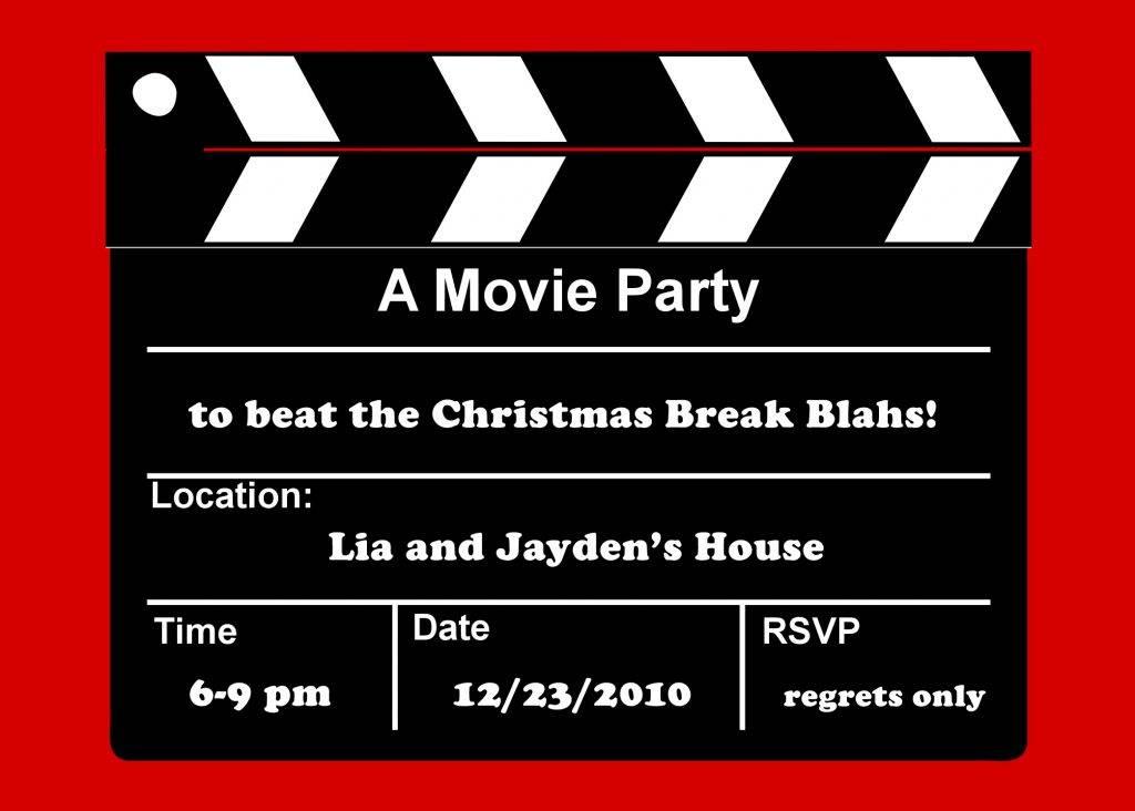 Movie Ticket Invite Template Free
