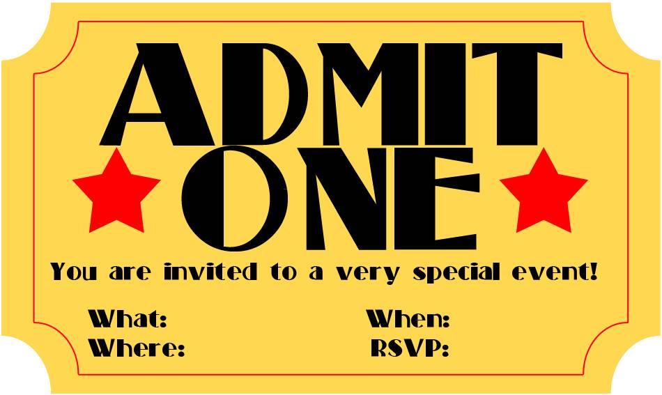 Movie Ticket Invite Template