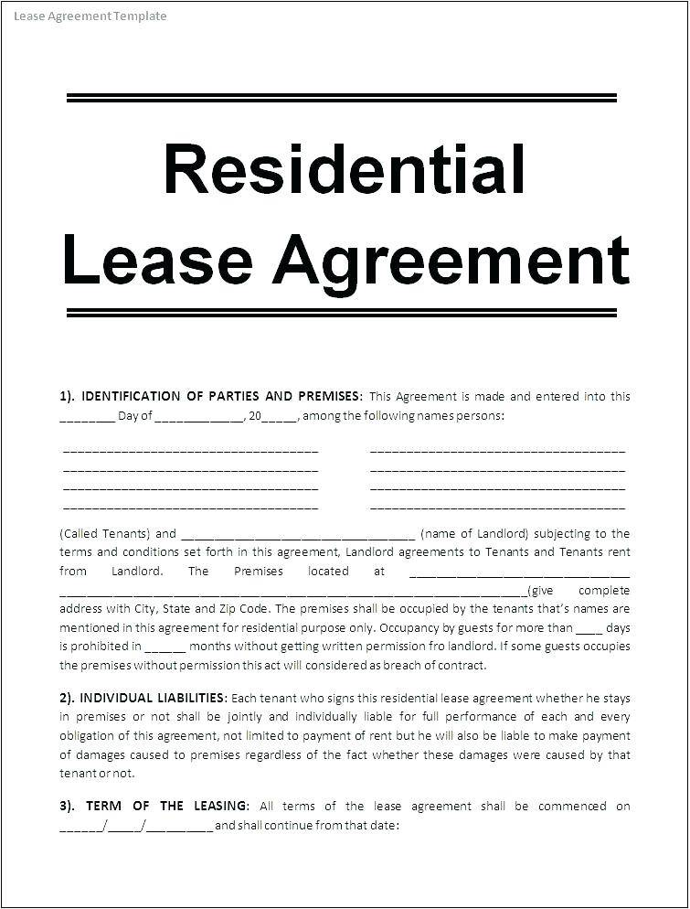 Office Rental Lease Agreement Template