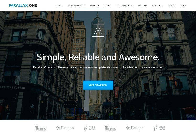 Parallax Wordpress Template Free