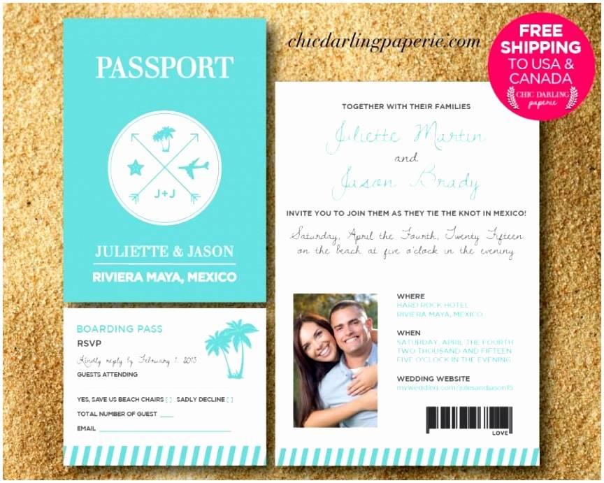Passport Wedding Invitation Template Free