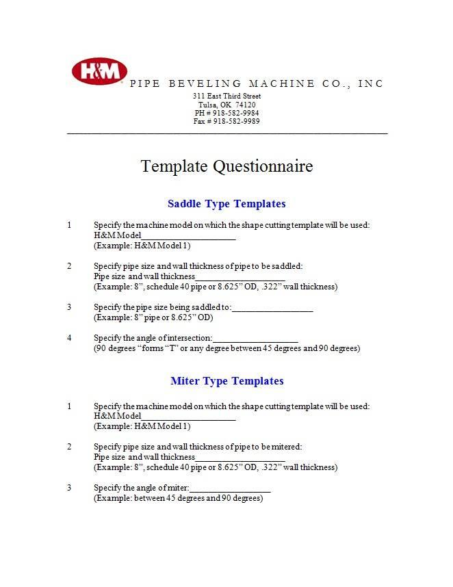 Pipe Cutting Template Saddle