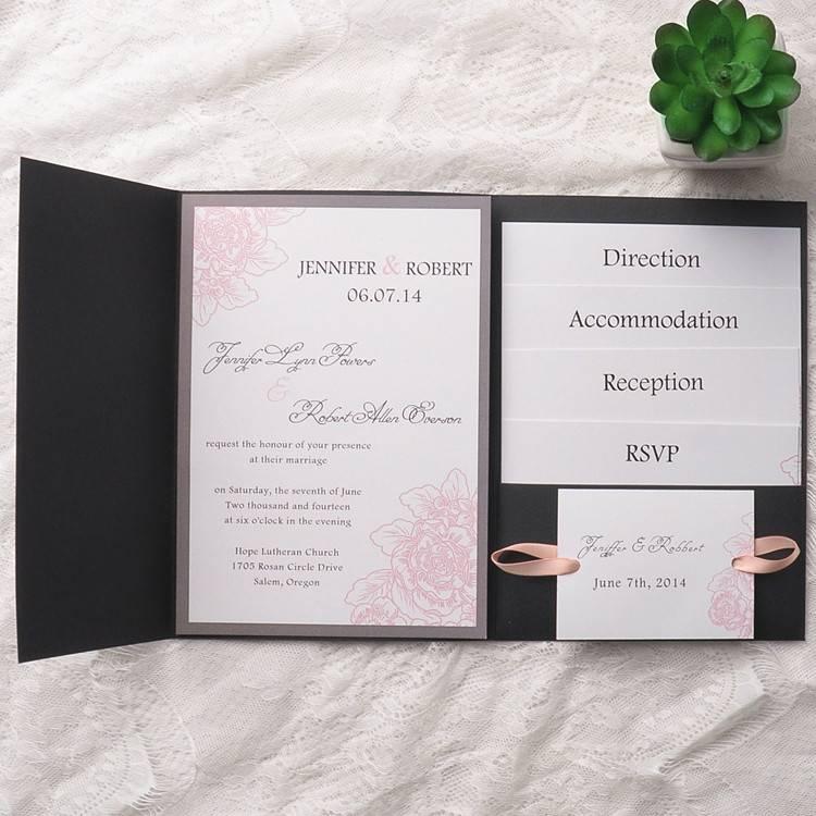 Pocket Fold Invitation Template