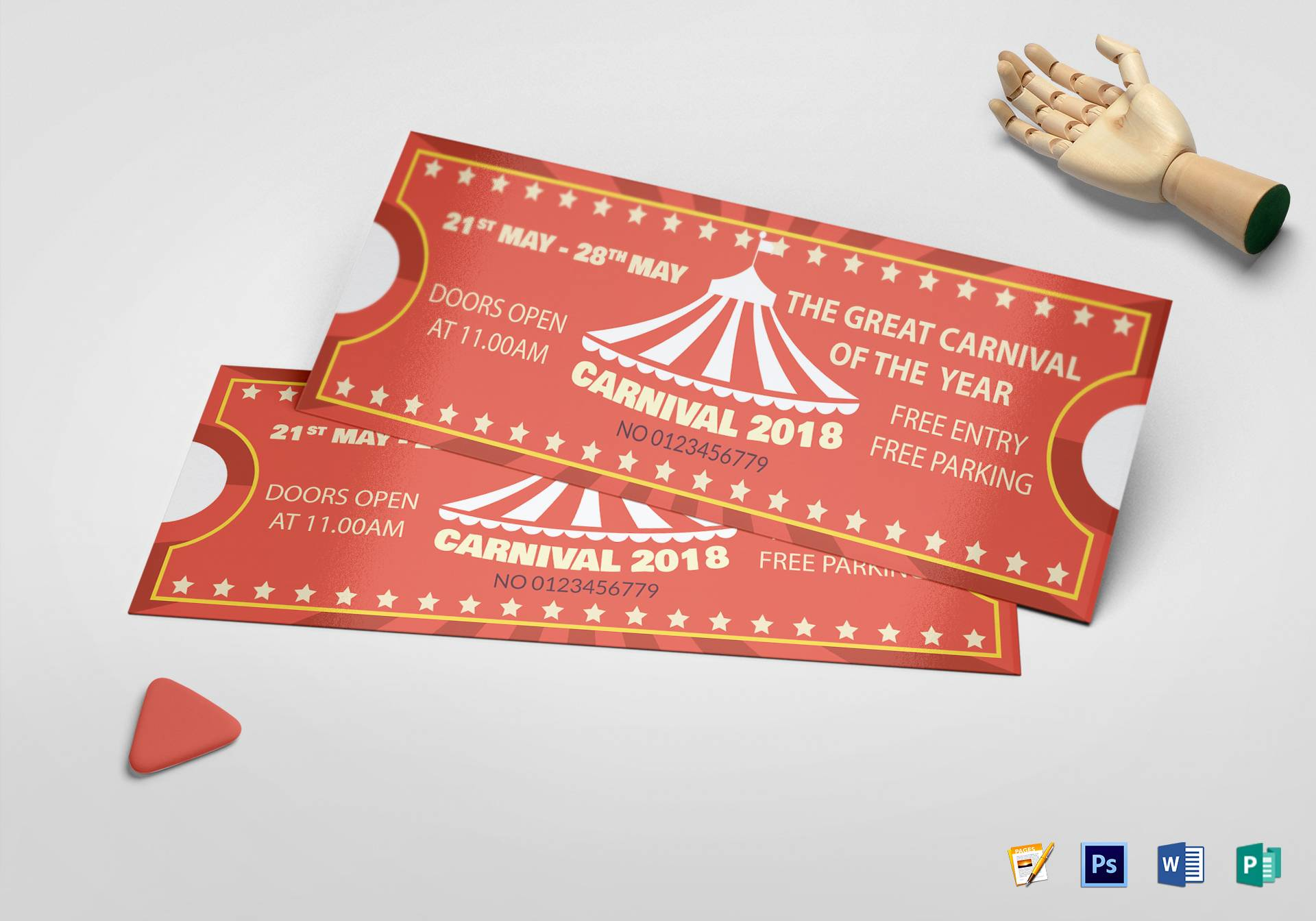 Printable Carnival Ticket Template