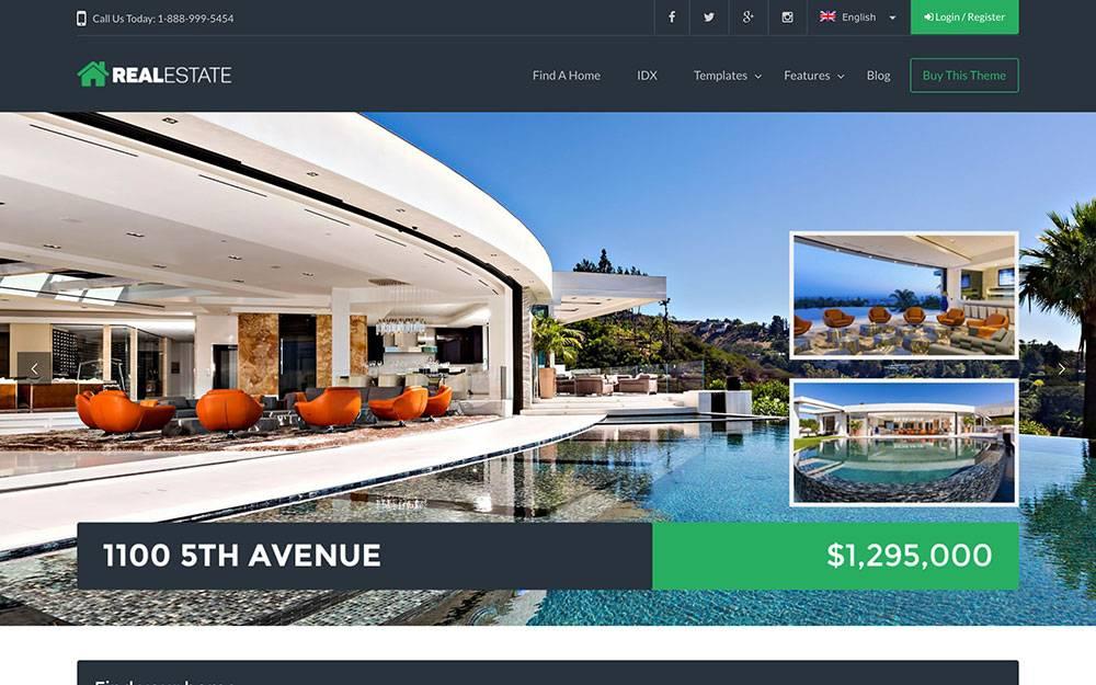 Realtor Website Templates Wordpress