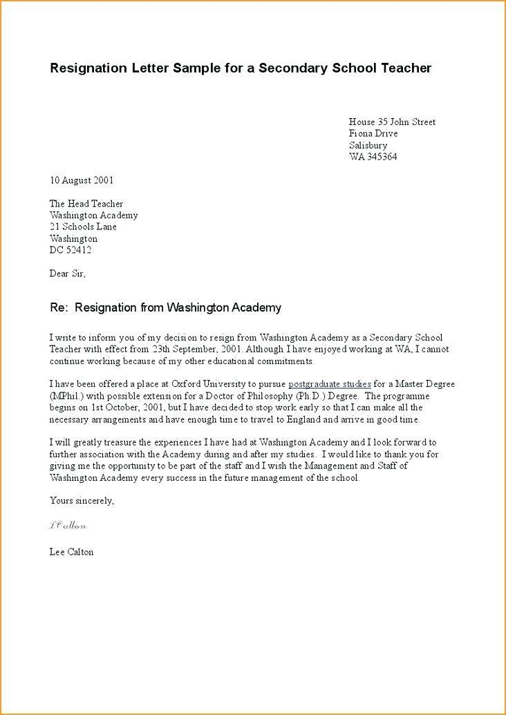 Resignation Template Letter Nz