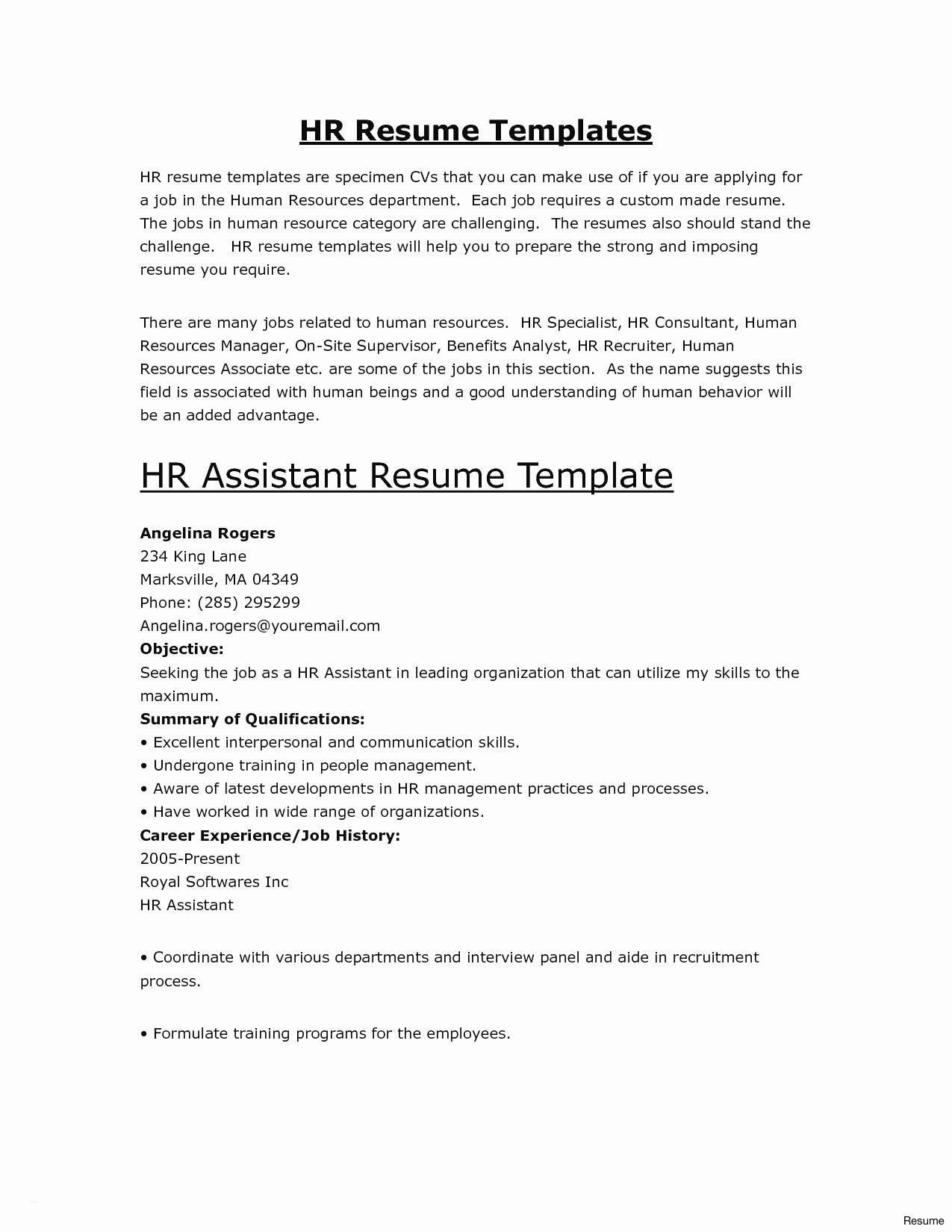 Resume Template Creator