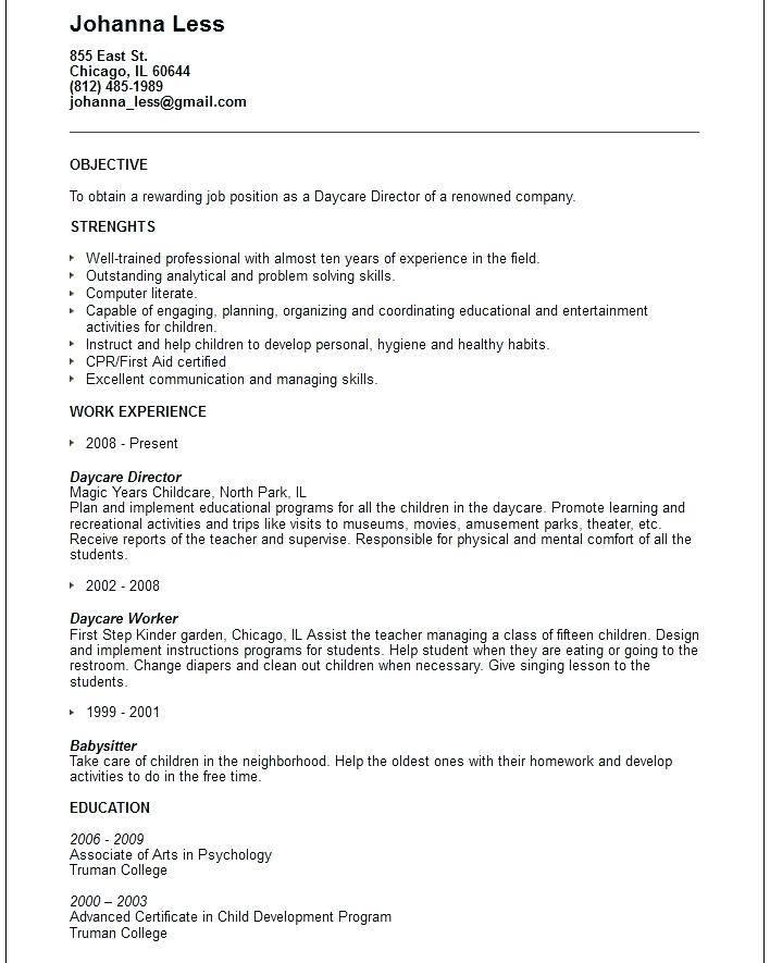 Resume Templates For Teacher Aides