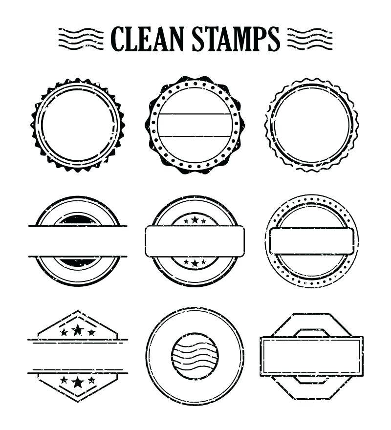 Rubber Stamp Template Photoshop