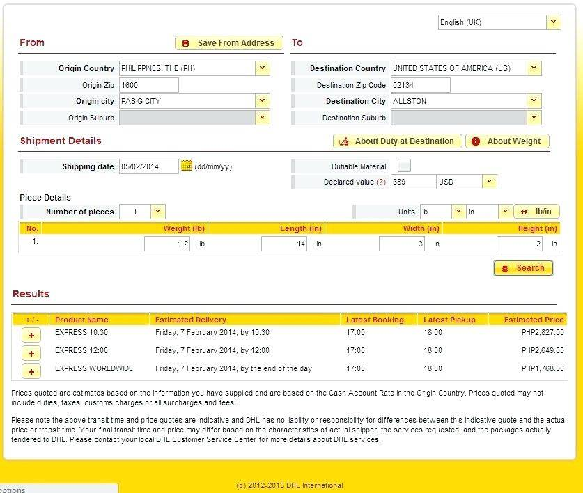 Shipping Invoice Template Dhl