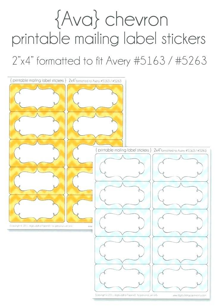 Shipping Label Template Avery 5163