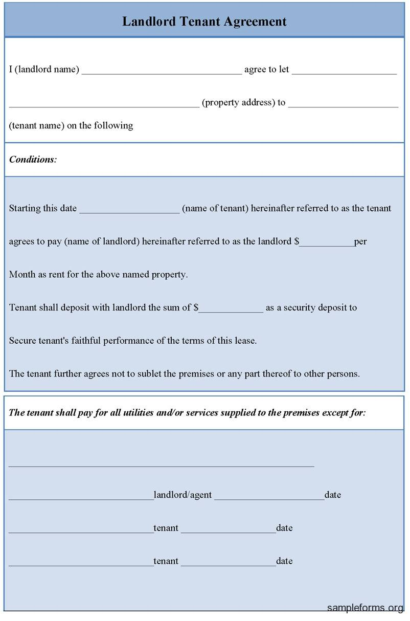 Simple Tenant Agreement Template