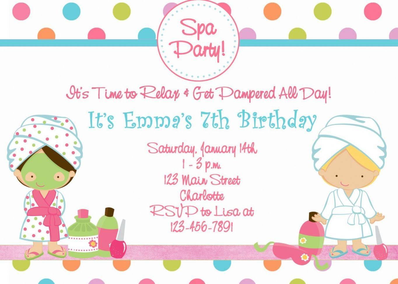 Spa Party Invitations Templates Free