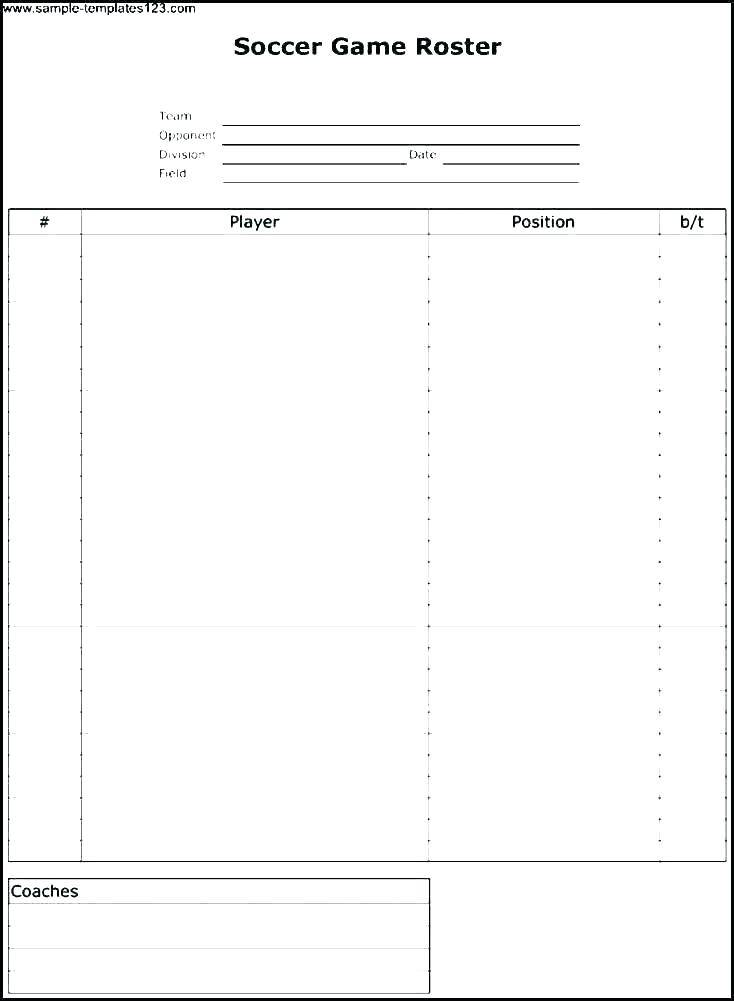 Staff Holiday Roster Template