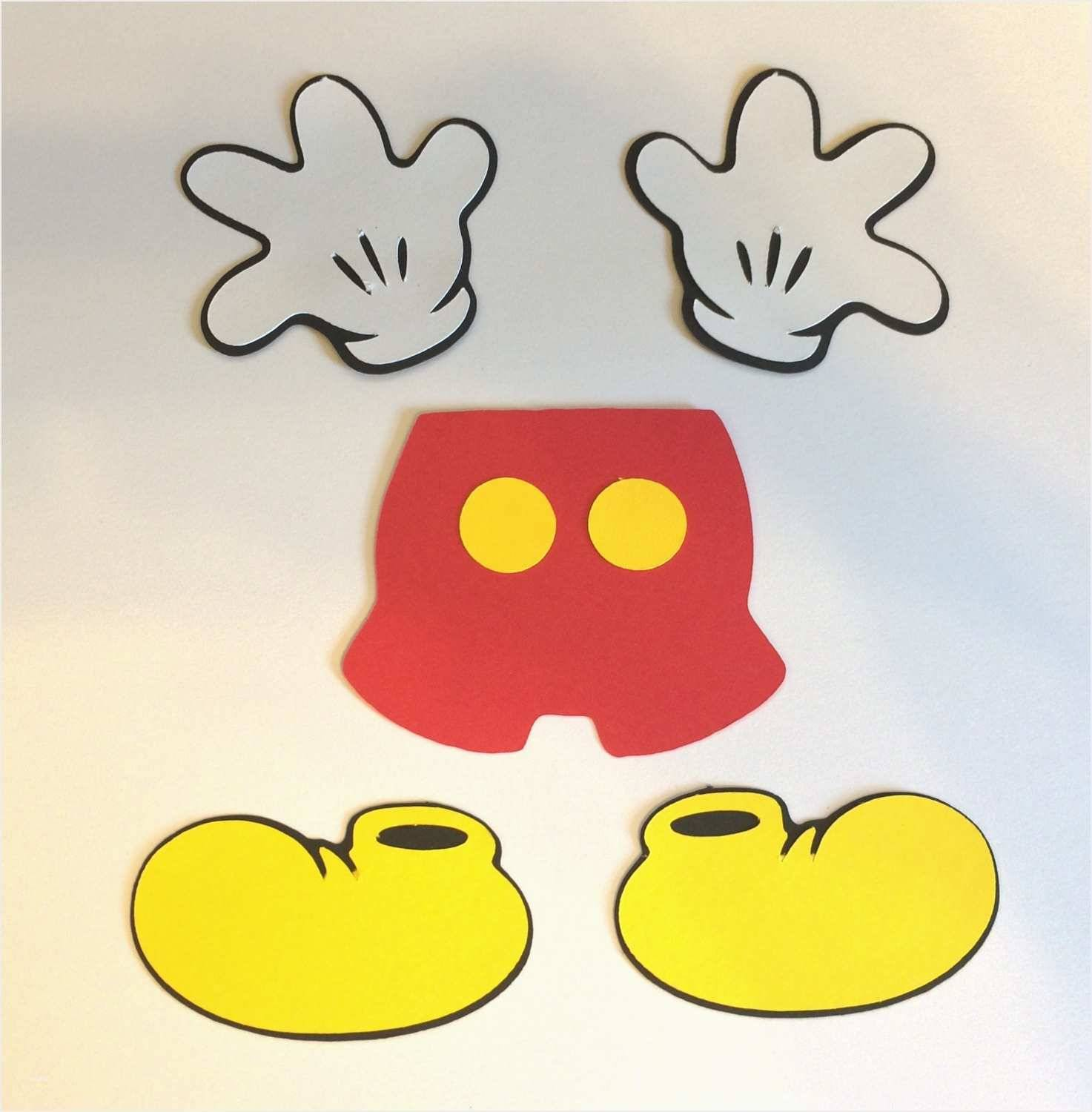 Template Of Mickey Mouse