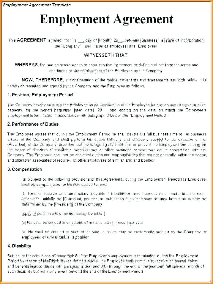 Temporary Employment Contract Template Malaysia