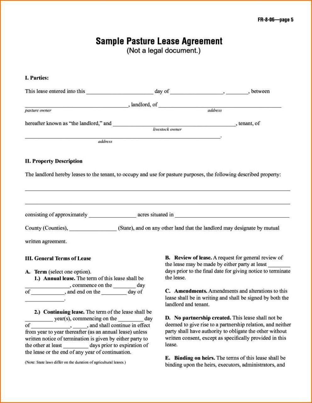 Tenant Contract Template Free