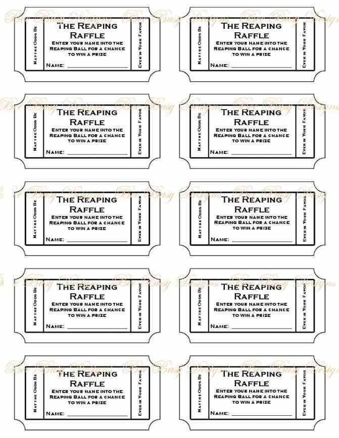 Ticket Printable Template