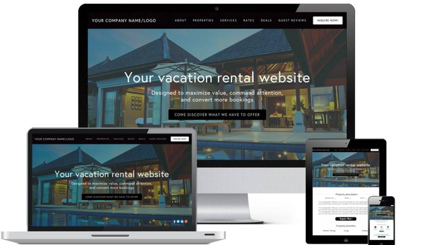 Vacation Rental Website Template Free