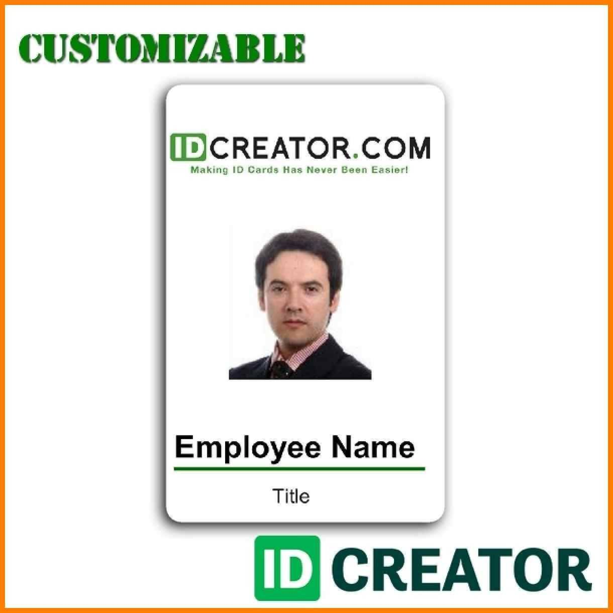 Vertical Employee Badge Template