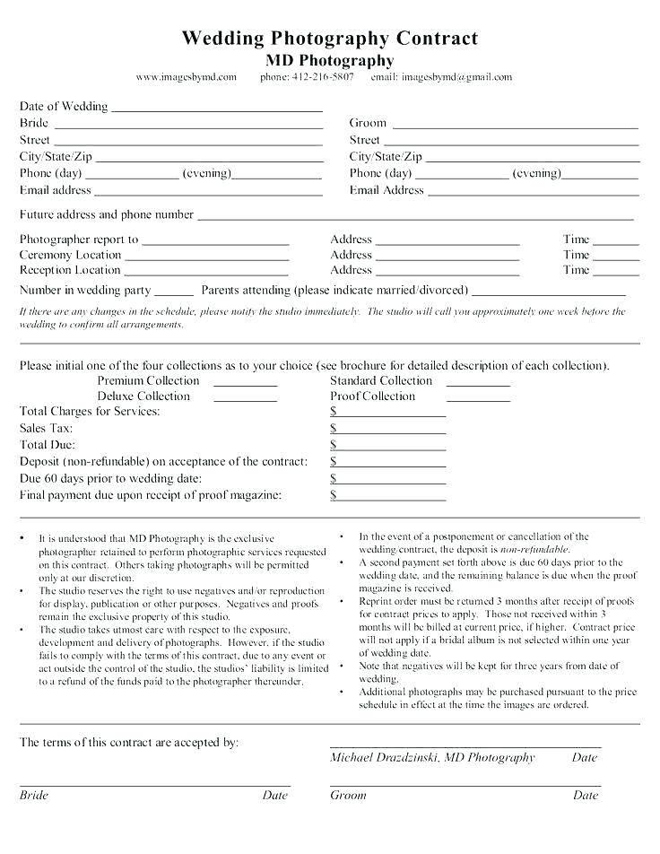 Wedding Photography Contract Uk Template