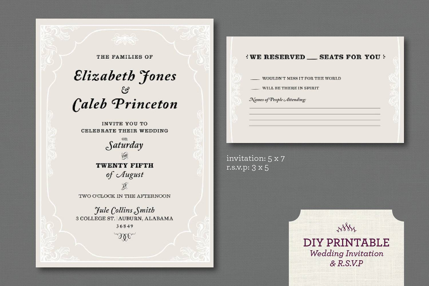 Wedding Rsvp Template Online