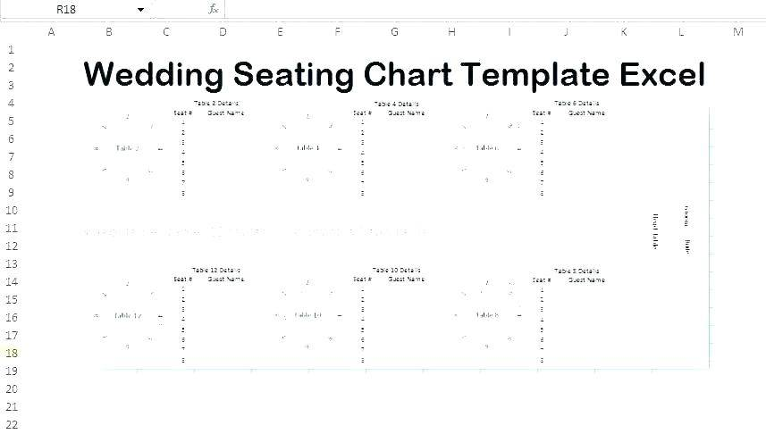Wedding Table Seating Plan Template Excel