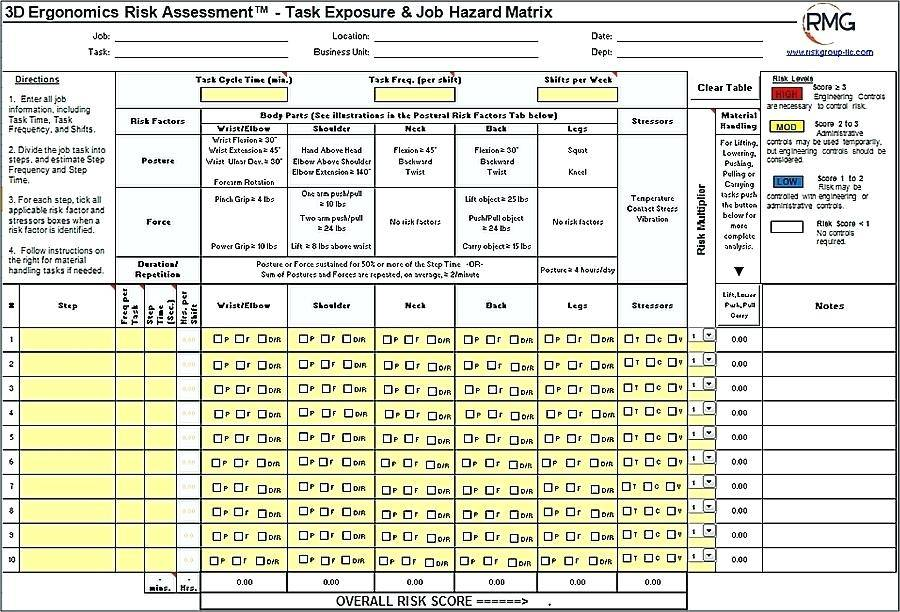 Whs Risk Assessment Template