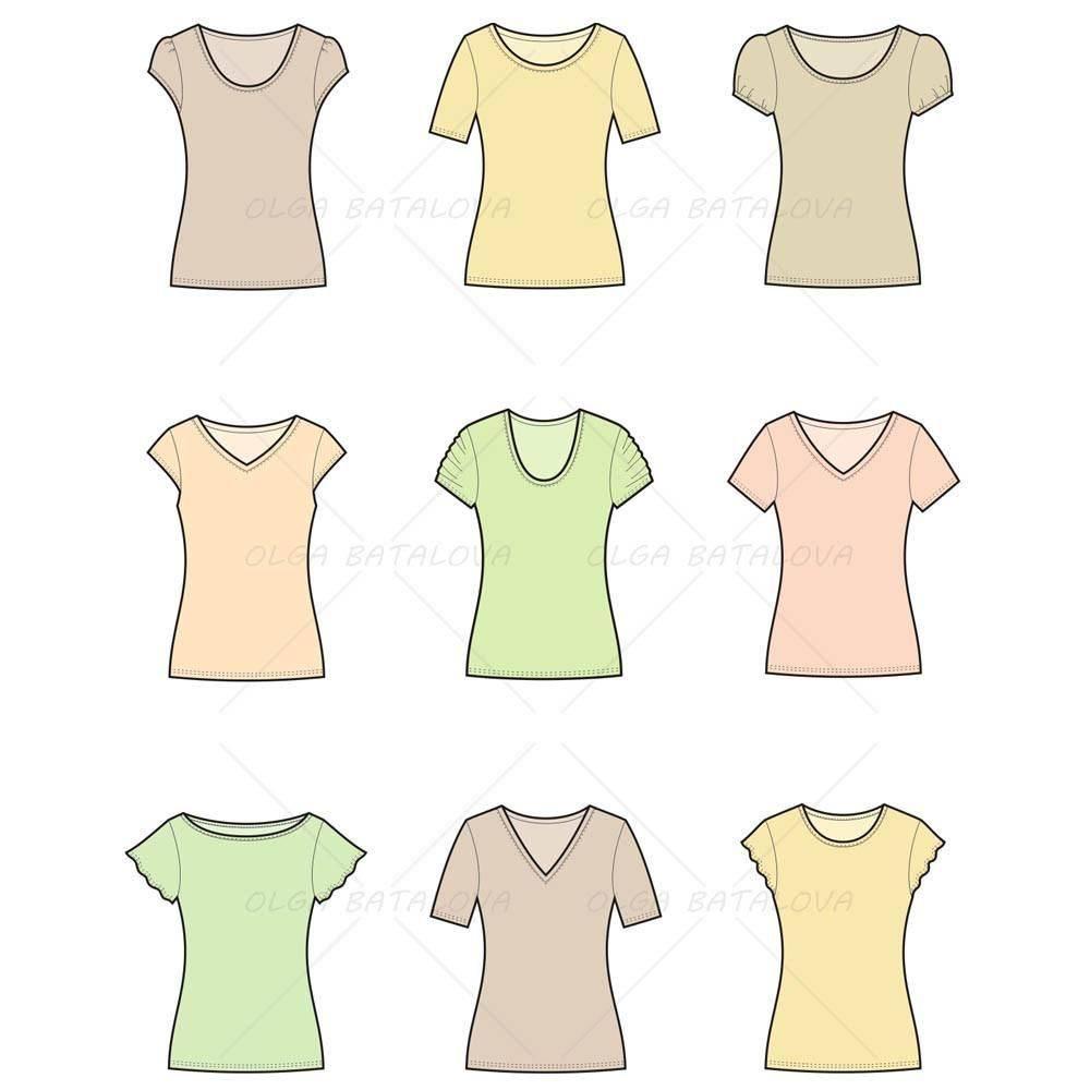 Women's T Shirt Template Photoshop