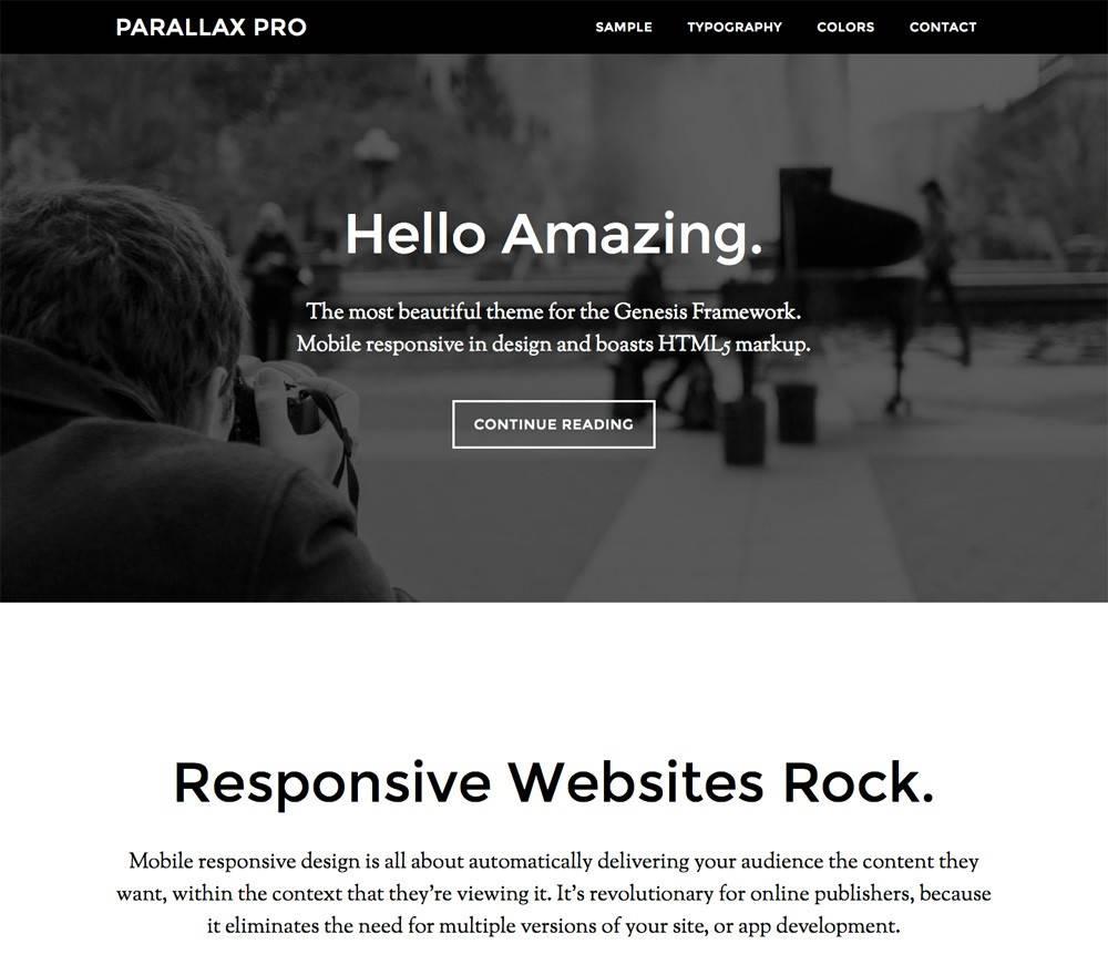 Wordpress Parallax Theme Nulled