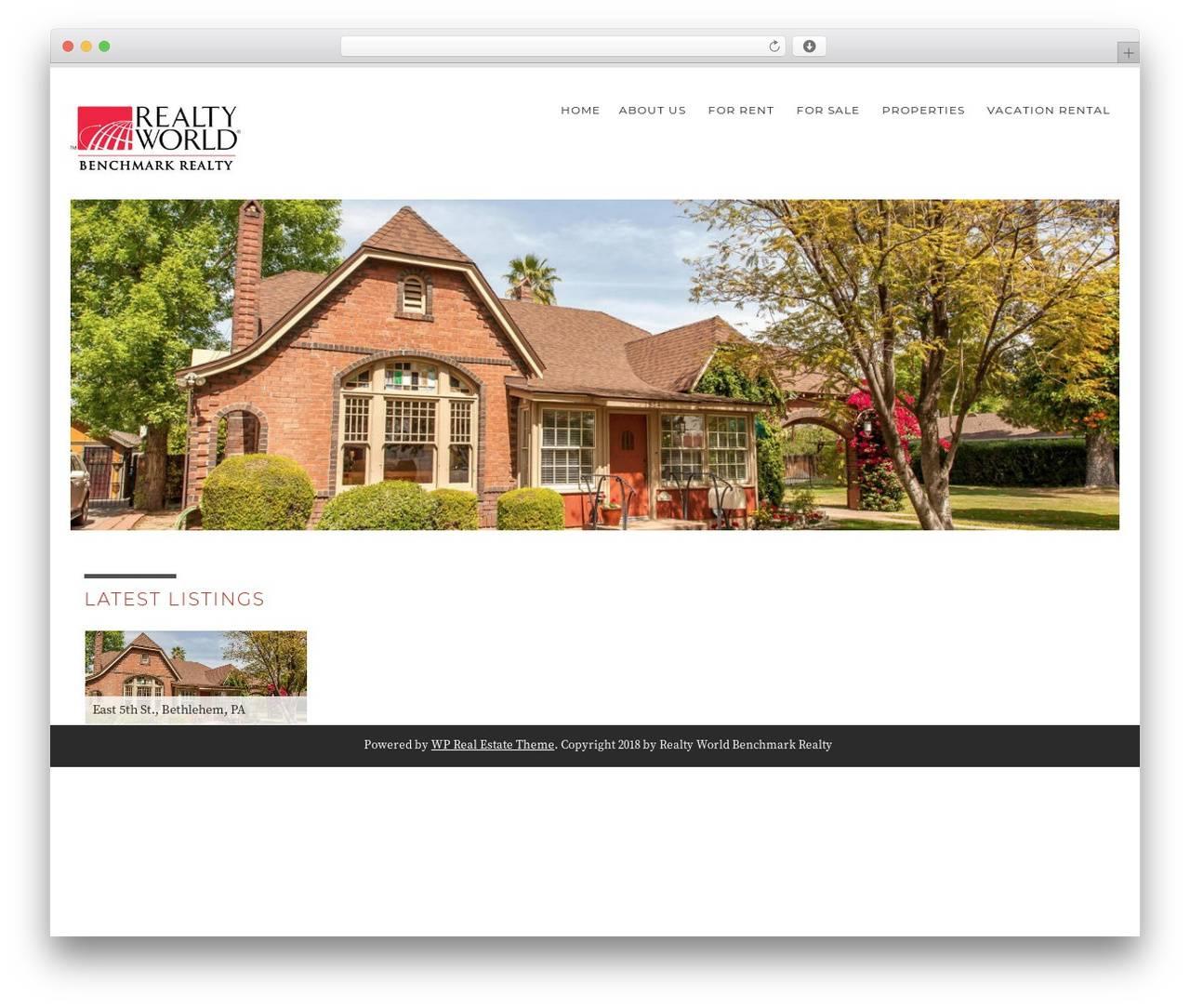 Wordpress Real Estate Template Free